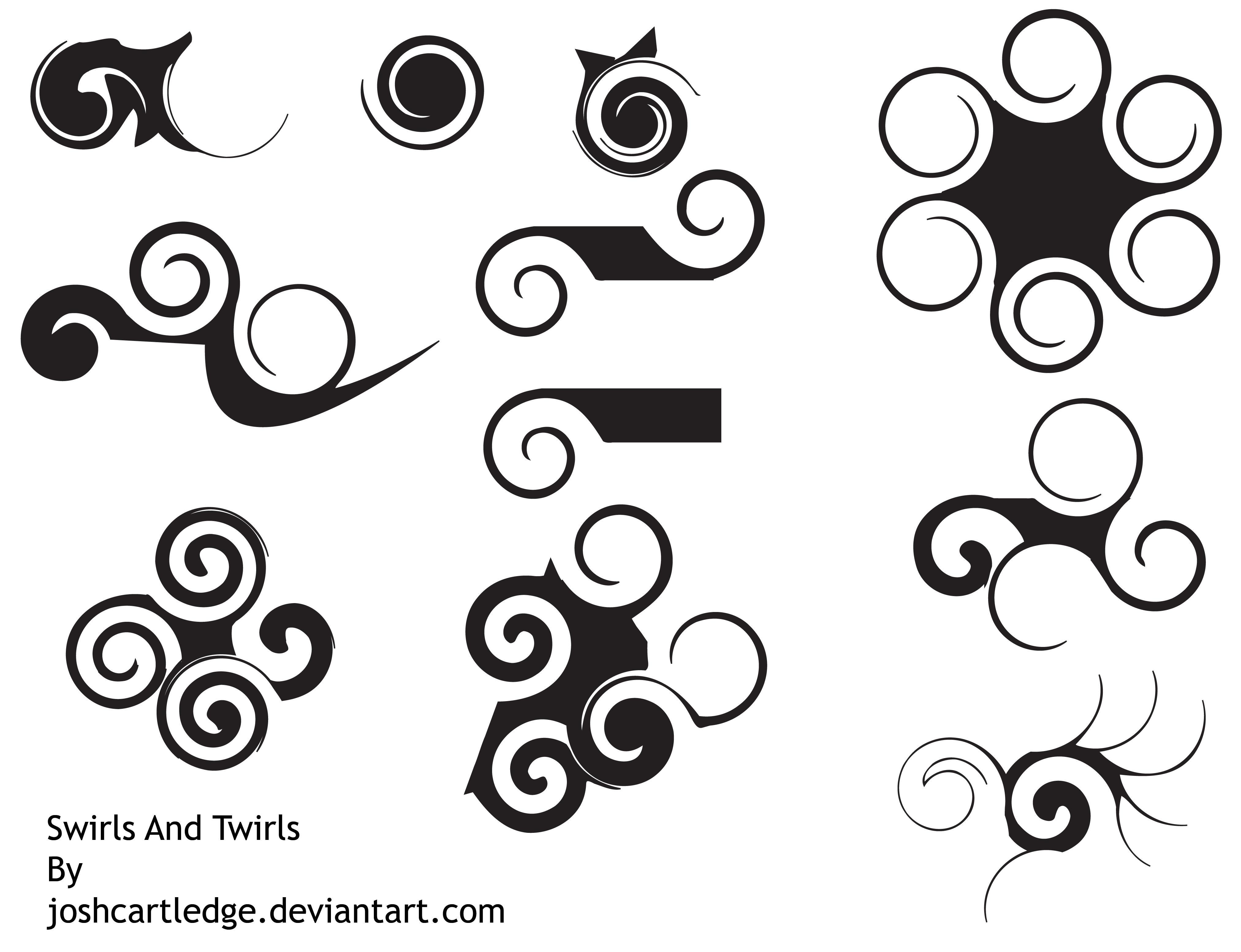 Swirls And Twirls Brushes by joshcartledge