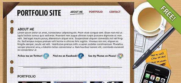 Portfolio Layout by ChocoTemplates on DeviantArt