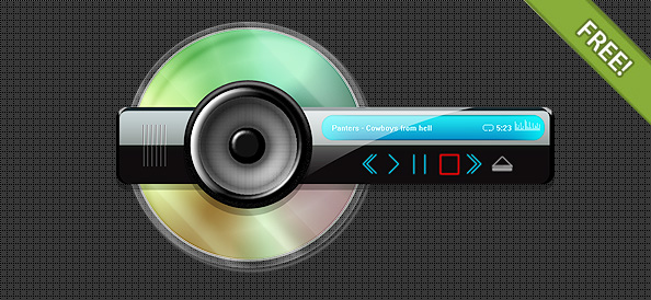 Abstract PSD skin for mp3 play