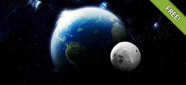 Earth and Moon in PSD