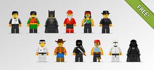 Lego People in Pixel Art Style