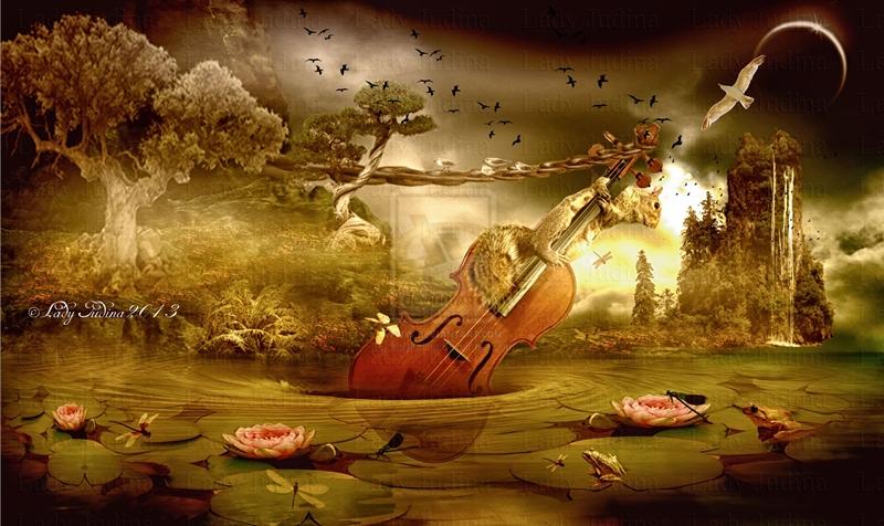I play the bass-En jatszom a basszust by ladyjudina