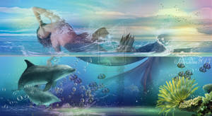 Mermaids and dolphins-Sello, es a delf
