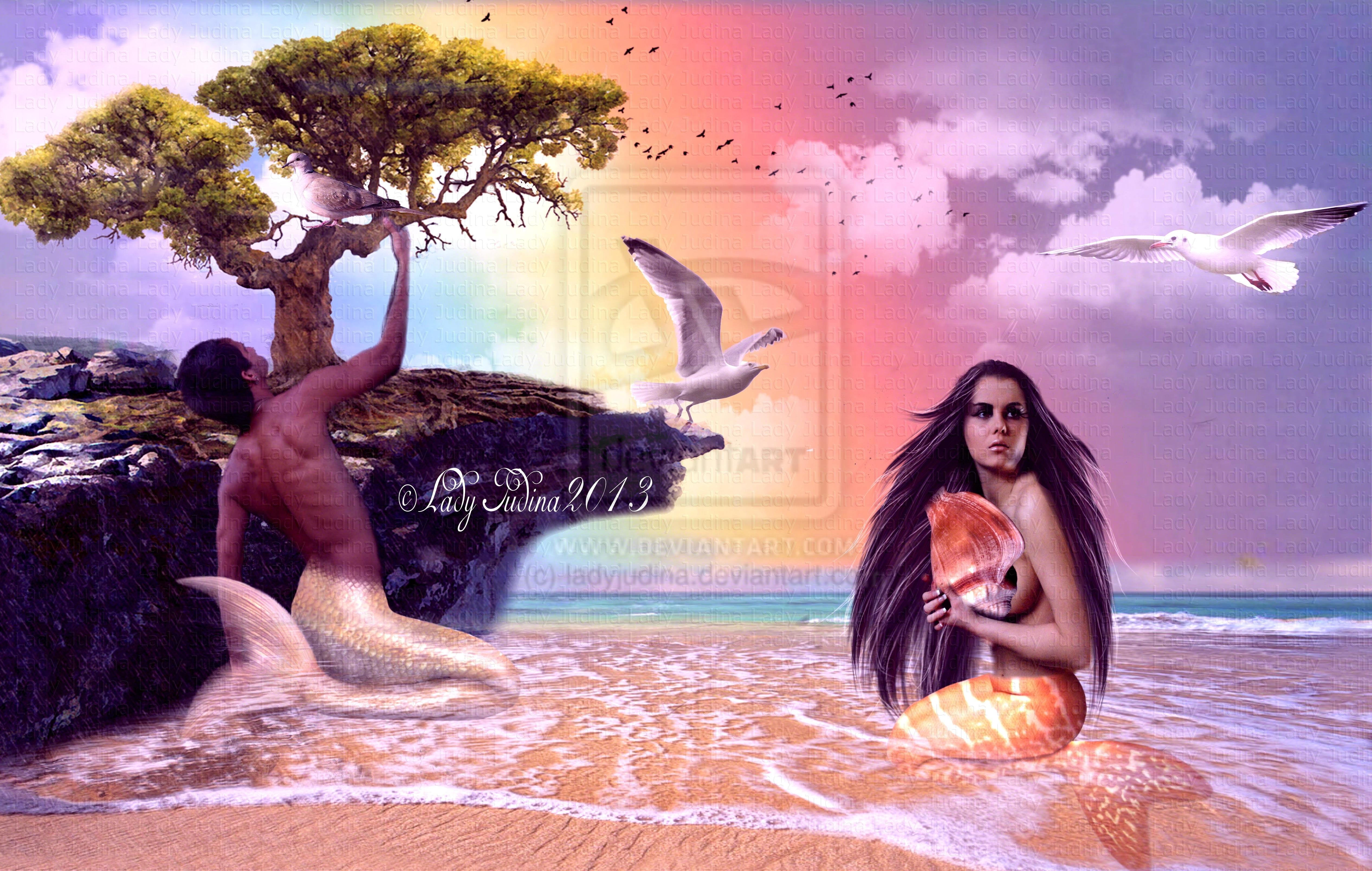 Mermaids and the rainbow-Mermaidok es a szivarvany