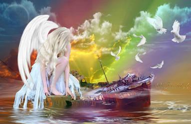 Angel of the Rainbow-A szivarvany angyala by ladyjudina