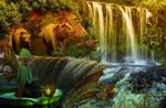 Elf and waterfalls-Mano, es a vizesesek