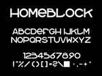 homeblock font