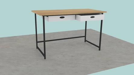 Wooden Desk Minimalistic [3D Render] by LupusSmoth