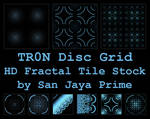 TR0N Disc Grid HD Fractal Tile Stock