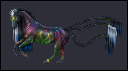 Closed - Animated Kaleidoscope Horse Adopt GIF
