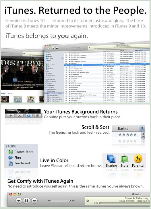 Genuine - iTunes 10 To 8 by JoshJanusch