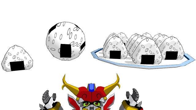 MMD Rice Ball Pack by blazeraptor