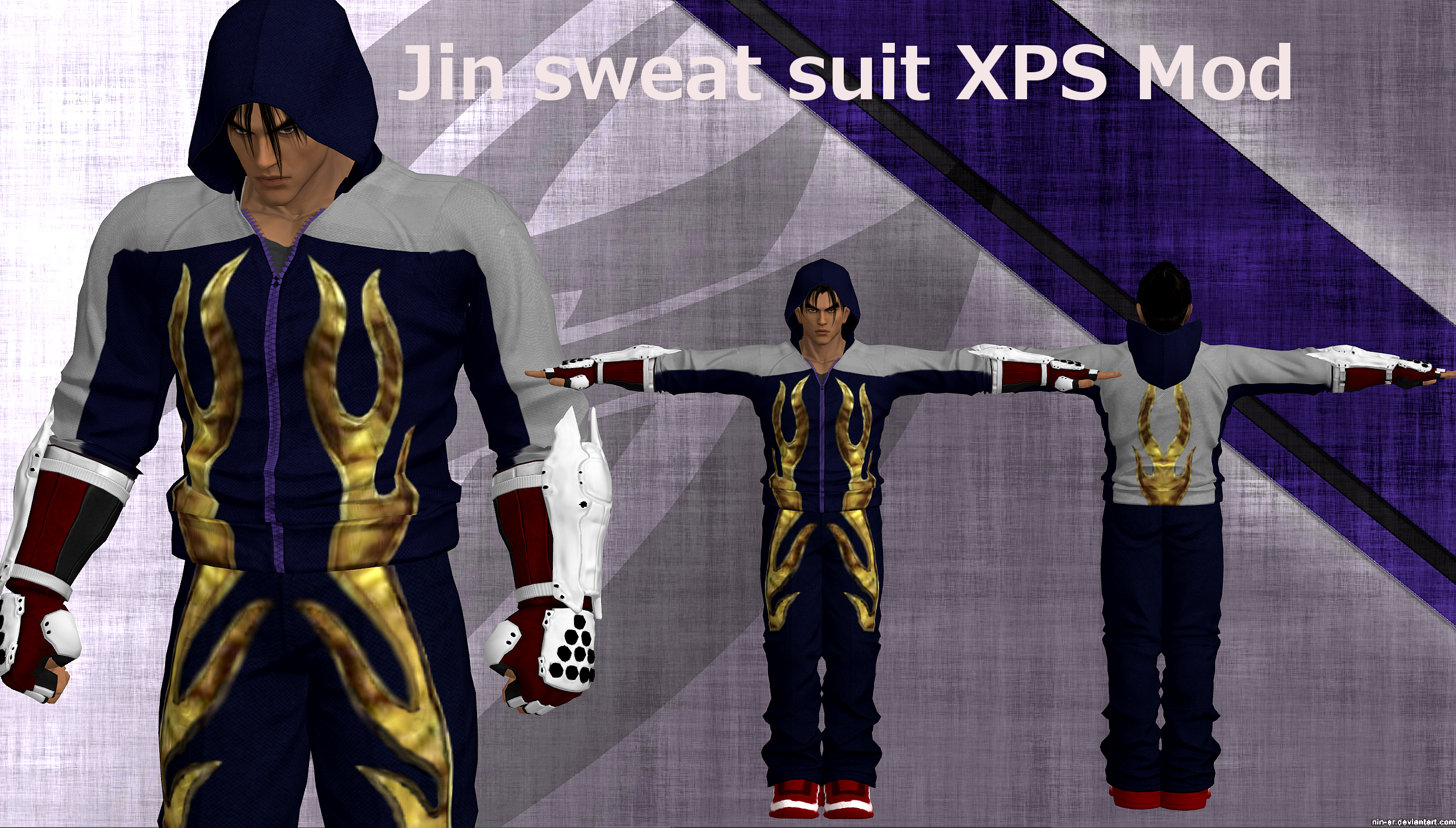 Jin Tekken 4 Sweatsuit Xps Mod By Tony Antwonio On Deviantart
