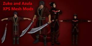 Zuko and Azula XPS MeshMods