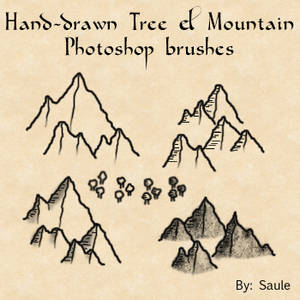 Mountain and Tree brushes