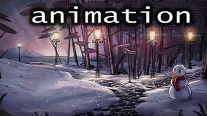 Animation: Snowy Dusk (without text)