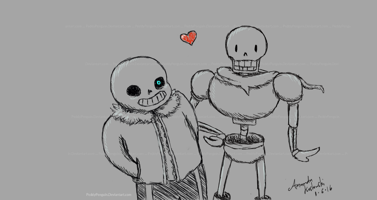 Skeleton Cuties by PeddyPenguin