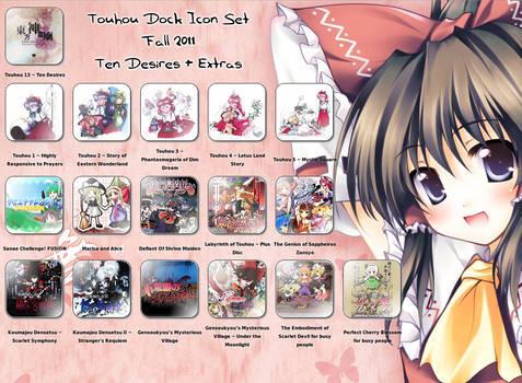 Touhou Dock Icon Set Fall 2011
