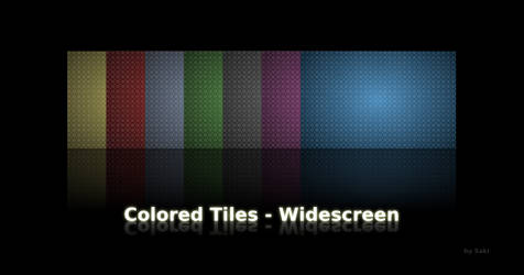 Colored Tiles - Widescreen