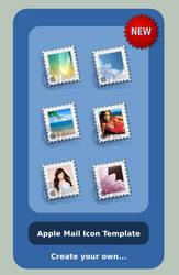 Apple Mail Icon Template by sa-ki