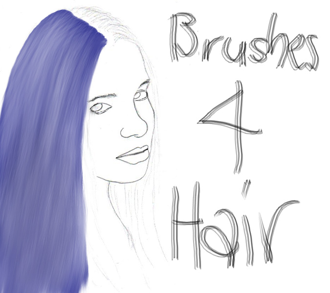 BRUSHES to use for HAIR by bextcstock