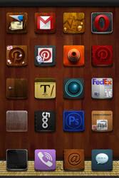 Jaku Homemade Icons Package v2.0 + Wallpaper - iOS