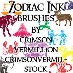 Zodiac Ink Symbols