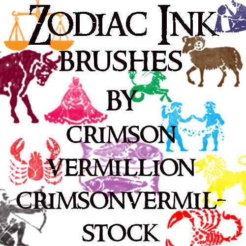 Zodiac Ink Symbols by crimsonvermil-stock