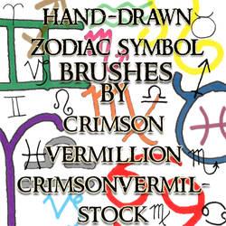 Zodiac Hand Drawn Symbols