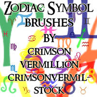 Zodiac Symbols by crimsonvermil-stock