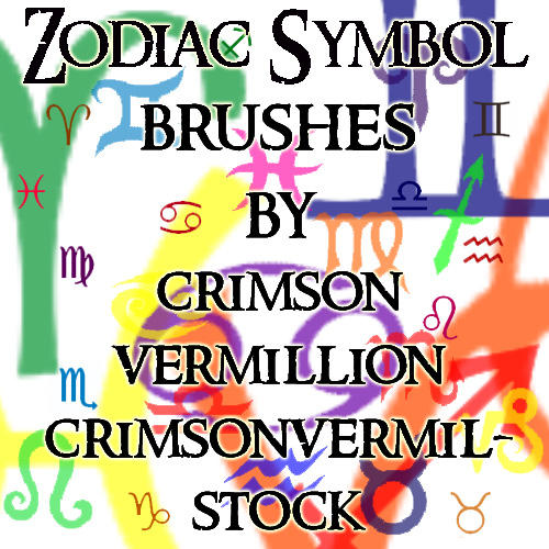 Zodiac Symbols by crimsonvermil-stock