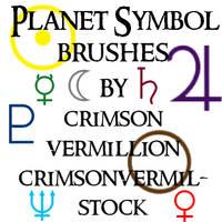Planet Symbol Brushes by crimsonvermil-stock