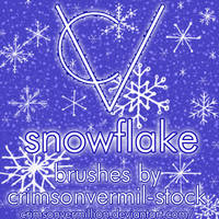 Hand Drawn Snowflake Brushes by crimsonvermil-stock