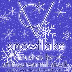 Hand Drawn Snowflake Brushes