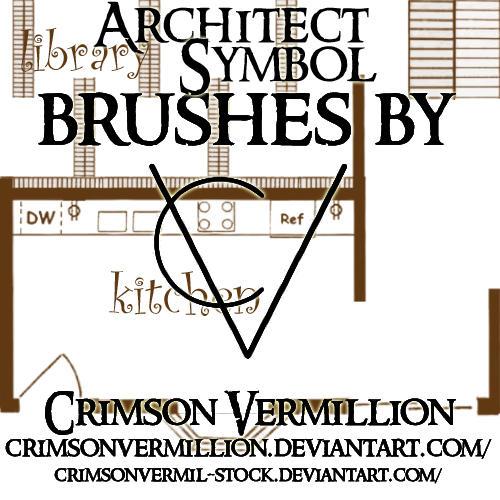Architect Blueprint Symbols by crimsonvermil-stock