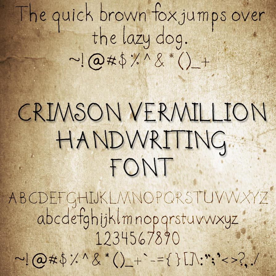 CrimsonVermillion Font by crimsonvermil-stock