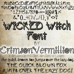 WICKED Witch Font
