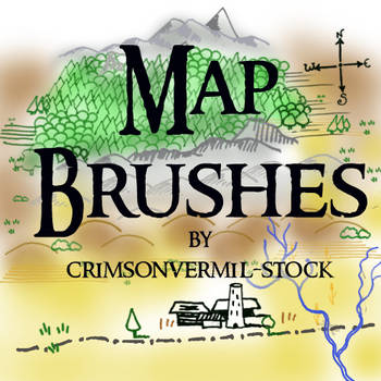 Map Symbols by crimsonvermil-stock
