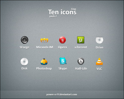 Ten Icons pack2