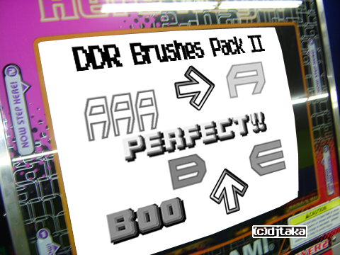 DDR Brushes Pack II by djSeragaki