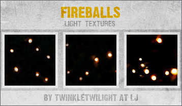 Fireballs - Light Textures by twinkletwilight