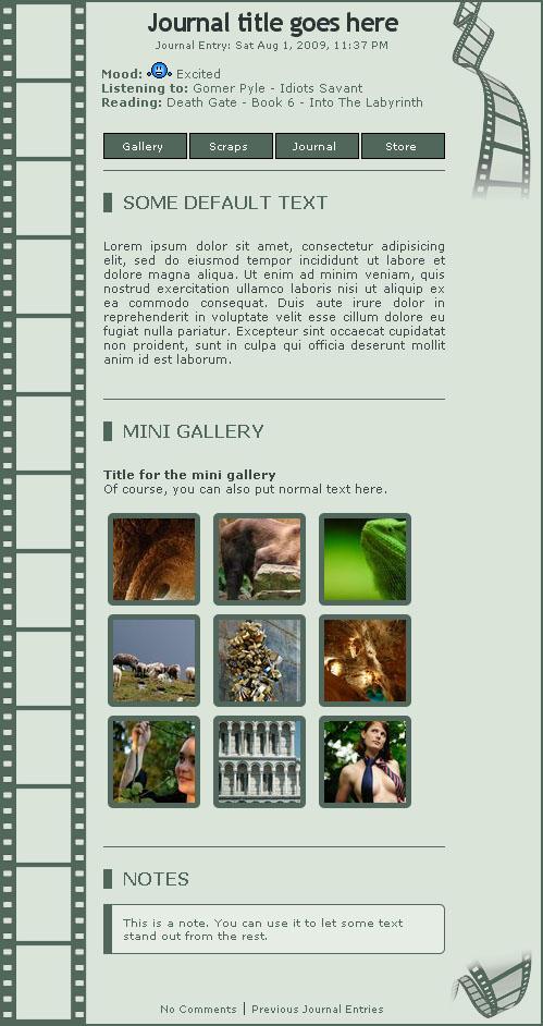 Photo-Film journal skin - dA by sturm