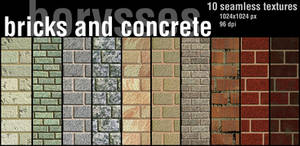 Bricks and concrete