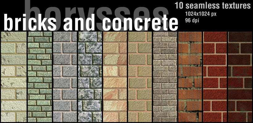 Bricks and concrete by borysses