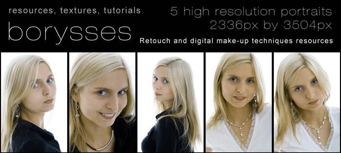 5 high res portraits