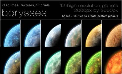 12 High resolution planets