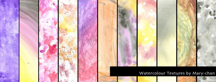 Watercolour textures
