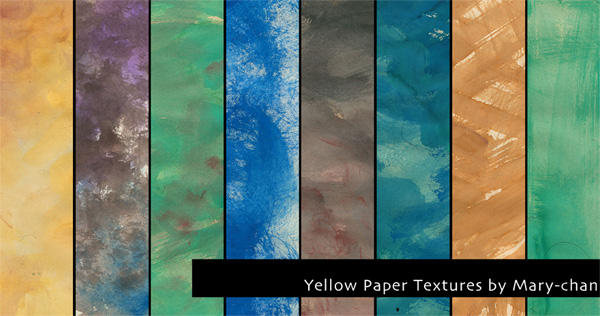 Yellow Paper Textures by martinacecilia