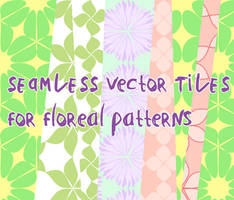 Floreal vector patterns by martinacecilia
