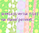 Floreal vector patterns